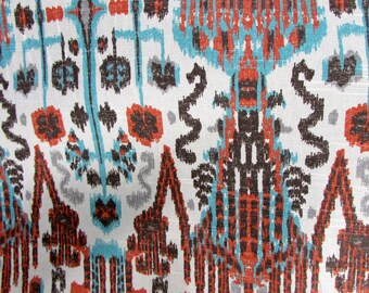 BOMBAY PAPRICA designer, drapery/bedding/upholstery ikat fabric