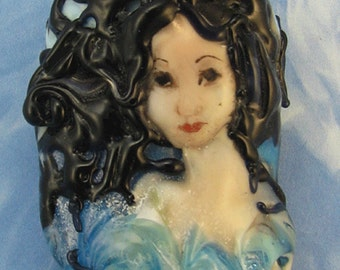 Lampwork Mermaid Bead - Meara