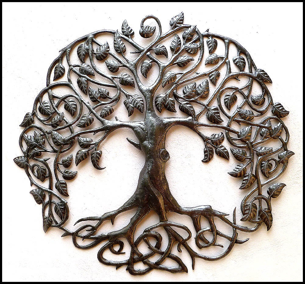 zoom - Metal Tree Wall Decor