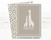 Modern Baby Memory Book // Baby Book // Baby Memory Book // Personalized // Personalised // Gender Neutral Baby Book // Giraffe // Grey