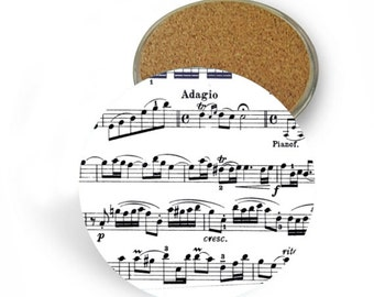 Sheet Music Coaster Set - Drink Coasters