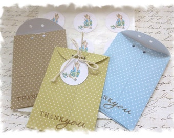 1 dozen seed packet favors - Perfect for a PETER RABBIT or other GARDEN themed party