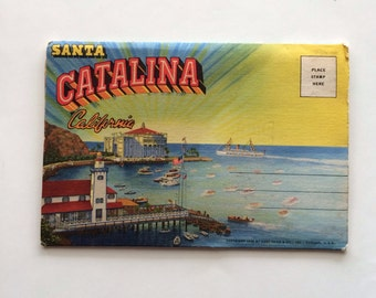 1930s Souvenir Santa Catalina Island, California Western Publishing And Novelty Co