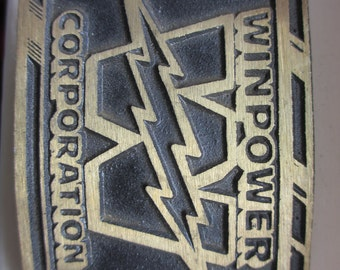 Vintage Brass Winpower Corporation Belt Buckle