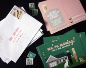 Moving Postcards with Custom House and Custom Family : Custom Illustrated