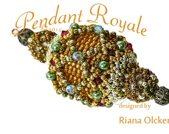 Peyote Stitch Pendant   Pattern - Pendant Royale