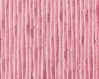 Custom Curtains in Rose in Stripe Pattern One Panel Custom sizes available