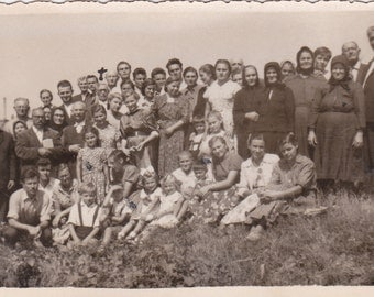 Group on the Hill - Vintage Photograph (EEE)