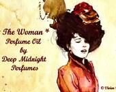 THE WOMAN Perfume Oil: Sherlock Holmes inspired, Mallow blossom, jasmine, honeysuckle, Egyptian musk, opium accord