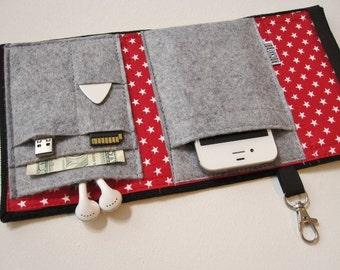 Nerd Herder gadget wallet in Seeing Stars for iPhone 6, Android, Blackberry, digital camera, smartphone