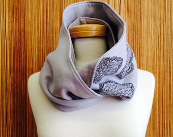 50% OFF: The grey-cloud print Infinity scarf for women