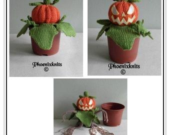 Sweet Halloween Pumpkin - NOT!  Pattern only IMMEDIATE DOWNLOAD