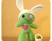 crochet cotton Easter Bunny costume only Zombie plush NOT included