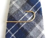 Gold FISH HOOK Tie Bar / Tie Clasp / Tie Clip in Gift Box