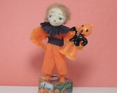 Halloween vintage style art doll decoration chenille stems pipe cleaners