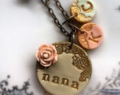 Mother's Day - Grandma Necklace - with TWO additional letter medallions
