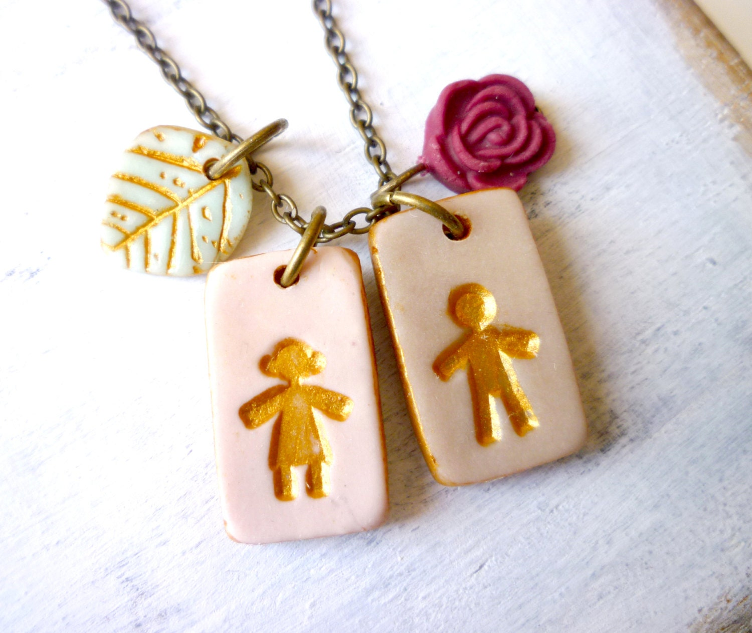 boy charm necklace charm necklace by palomaria