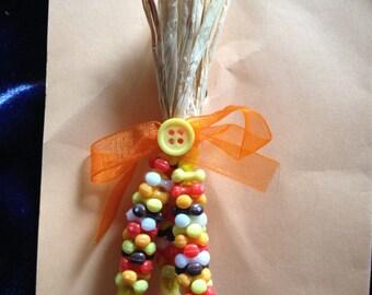 Indian Corn Pin, Indian Corn Brooch, Autumn Pin, Autumn Brooch, Handmade Pin, Handmade Brooch, Gift for Her, Indian Corn Jewelry