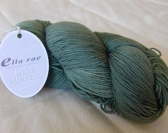 Ella Rae Lace Merino, fingering weight yarn, Faded Green color