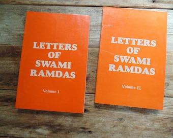 SWAMI RAMDAS. Letters. Eastern Religion 2 books 1980s reprints