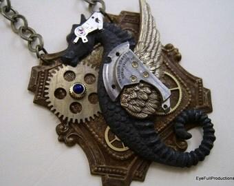 Time Writer, Steampunk, Sci Fi, Fantasy Necklace
