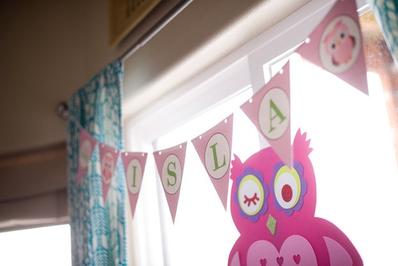 Owl Banner Bunting