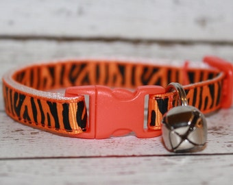 Orange Tiger Stripe Cat/Kitten Collar- Adjustable/Breakaway