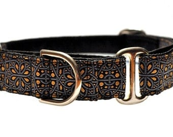 martingale collar or buckle dog collar ankara jacquard 1 inch