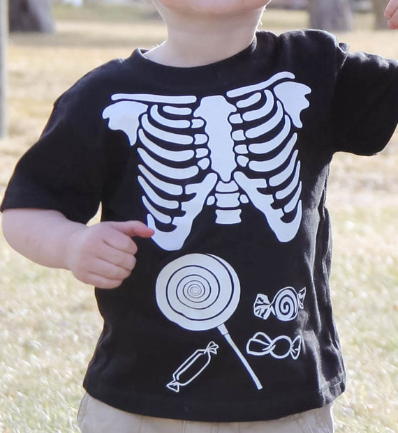 Skeleton xray kids shirt tee match xray maternity & men with sympathy bump - candy in the belly