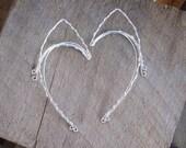 Elven Ear Cuffs. Silver Elf Ear Cuffs. Silver elven Ear Cuffs. Fairy Ears. Halloween Costume. Elven Ear Wraps. Fairy Ear Wraps. Elf ears.