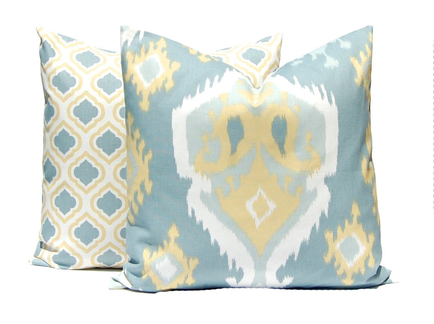 Gold and Gray Pillow Covers Throw Pillow Covers Gold