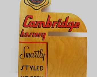 Vintage Cambridge  Hosiery Advertising Sign
