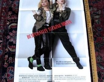 "Desperately Seeking Susan Madonna 1984 Original Movie Poster  ONE SHEET 27"" X 41""  Rosanna Arquette"