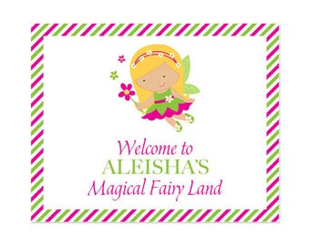 PRINTABLE Fairy Party Welcome Signs