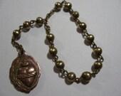 Vintage Brass and Copper Hand / Bracelet Rosary