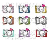 CAMERA clipart set instant download zip file - Digital Camera Clip Art Digital illustration clipart by princess mi  201306