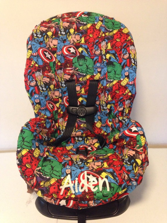 Marvel Super Heros Fabric Toddler Car Seat Cover Spiderman And