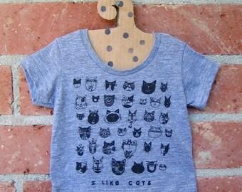 CATS Tiny Tri Blend Grey Baby Tshirt