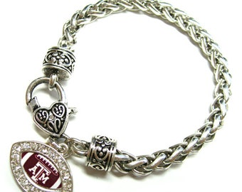 Texas A&M Aggie Football Charm Bracelet