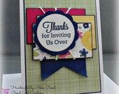 Thank you for the invite -- Handmade Thank you Card