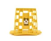 Vintage yellow napkin holder