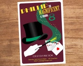 Magic Show Magician Party Invitation