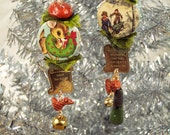 Family Traditions - Christmas holiday earrings  - reindeer, snow skiing, jingle bells