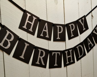 Happy Birthday Banner -  Birthday Banner - Adult Birthday - Birthday sign -  Birthday party -  Birthday party decorations