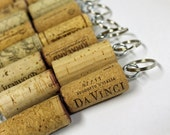 Reserved for Mica Wine Cork Key Rings - Cork Party Favors - recycled oak wine corks - Cork Key Chains