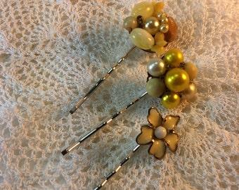 Wedding Hair Pins Bobby Pins. Bridesmaids. Yellow wedding