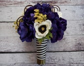 Wedding Bouquet - Purple and White Anemone Bouquet