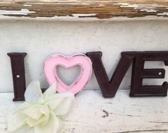 Love Sign/ Cast Iron Wall Decor / LoVe Sign Decor /  Wedding Decor/ Wedding Prop