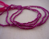 Tiny garnet round beads 1mm 1/2 strand