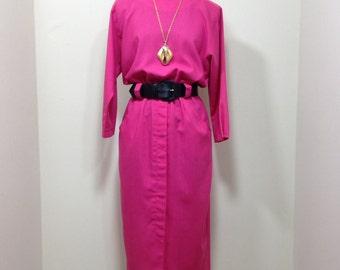Vintage 80s P.J. Klein Pink Dress S M